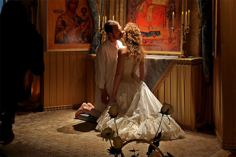 Скриншот со съемок фильма
