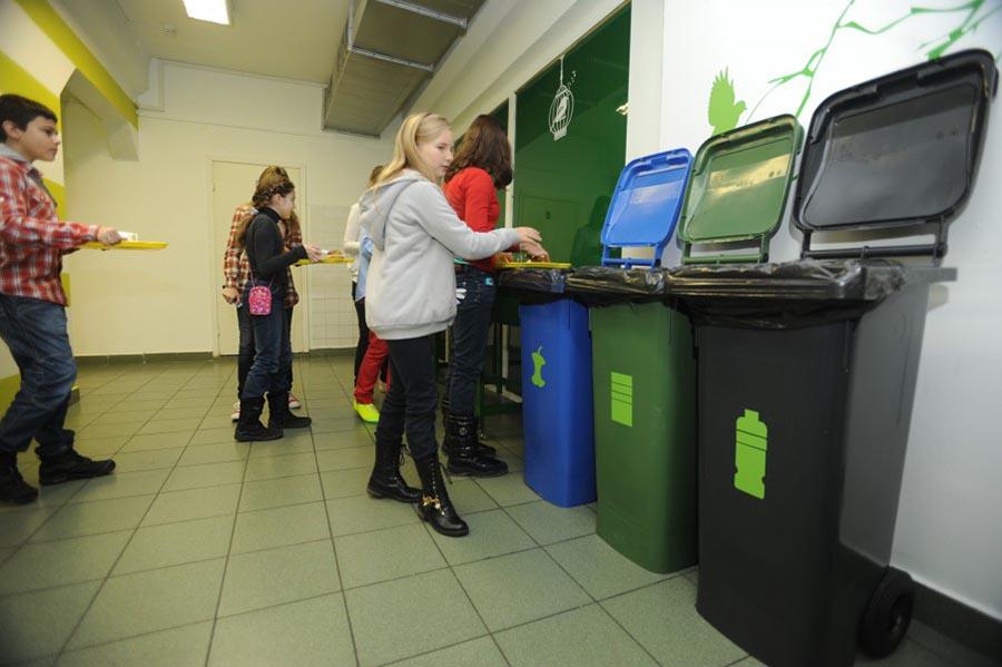 Сортировка мусора в школе