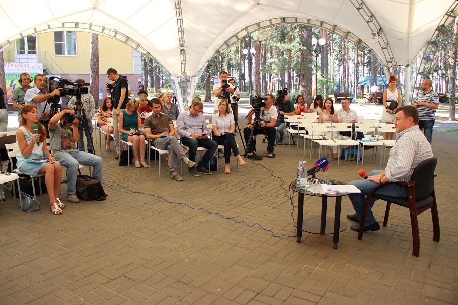 Представители СМИ на большой пресс-конференции губернатора. Фото Онлайнтамбов.ру