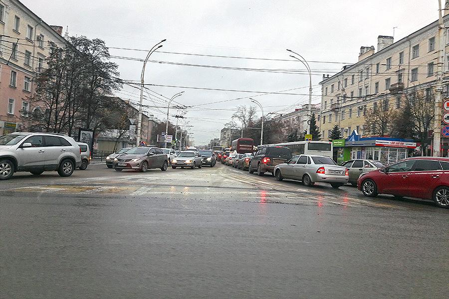 Пробка на Советской в Тамбове