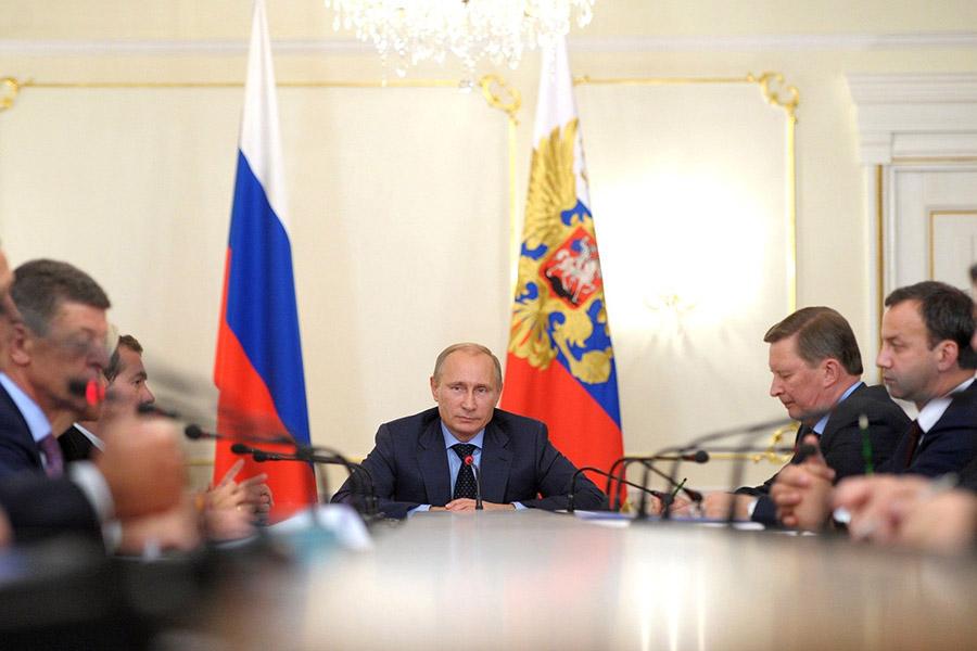 Заседание правительства под руководством президента Владимира Путина