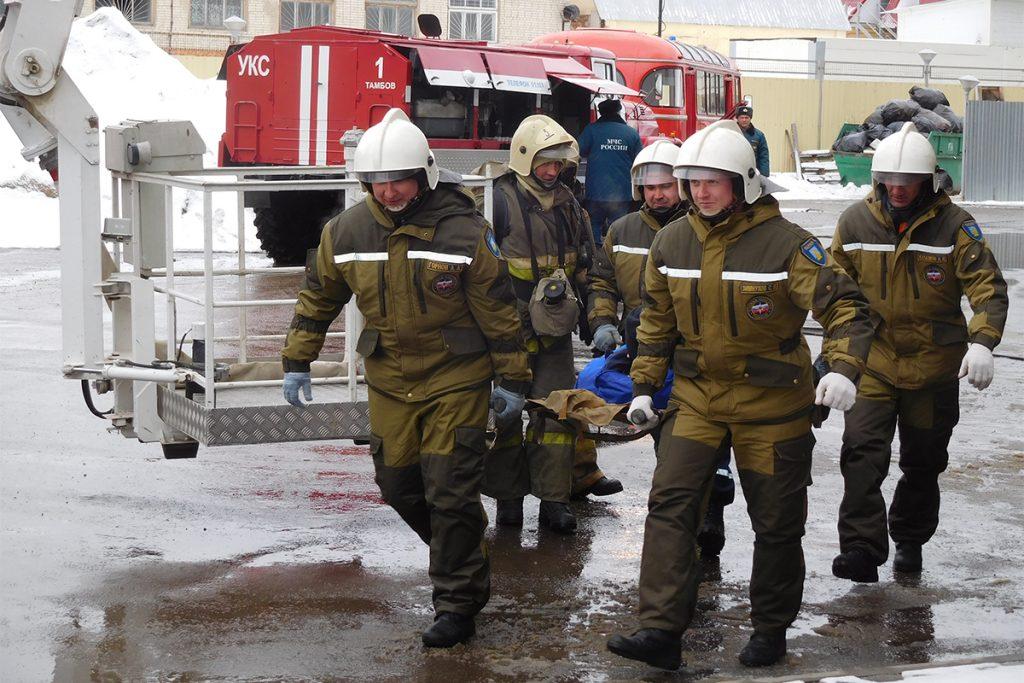 Пожарные учения в ТРЦ Акварель в Тамбове