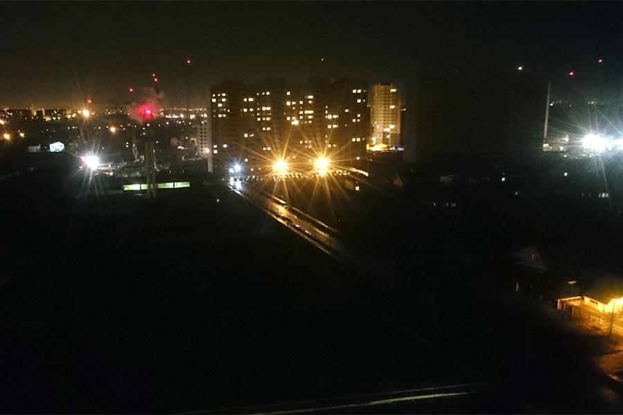 Улица Пахотная во тьме
