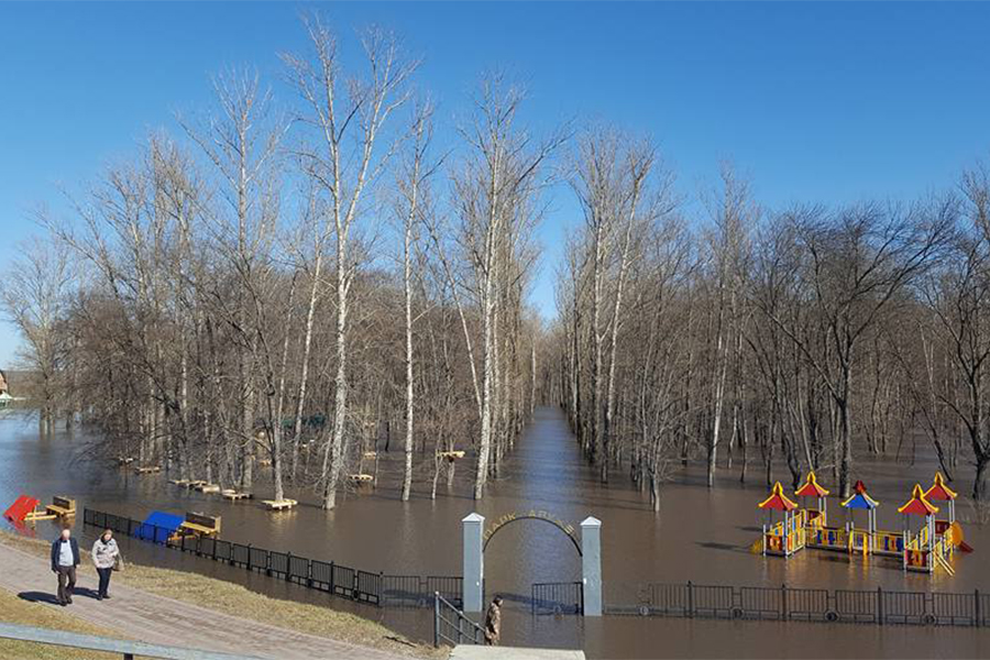 Паводок в Тамбове на Набережной