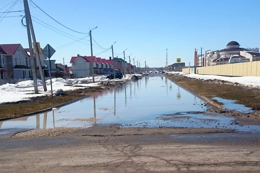 Улица Васильковая после работы илососов и бульдозеров
