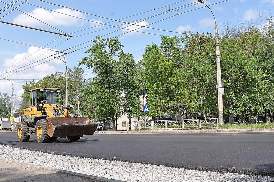 Ремонт дороги по улице Астраханской