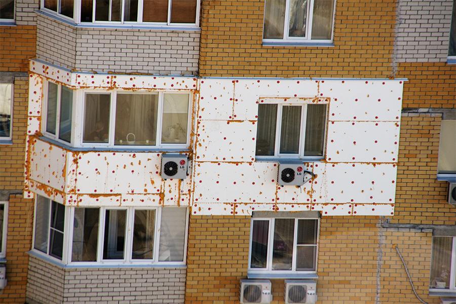 Утепленный фасад дома
