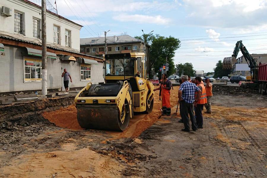Строительство улицы Пролетарской