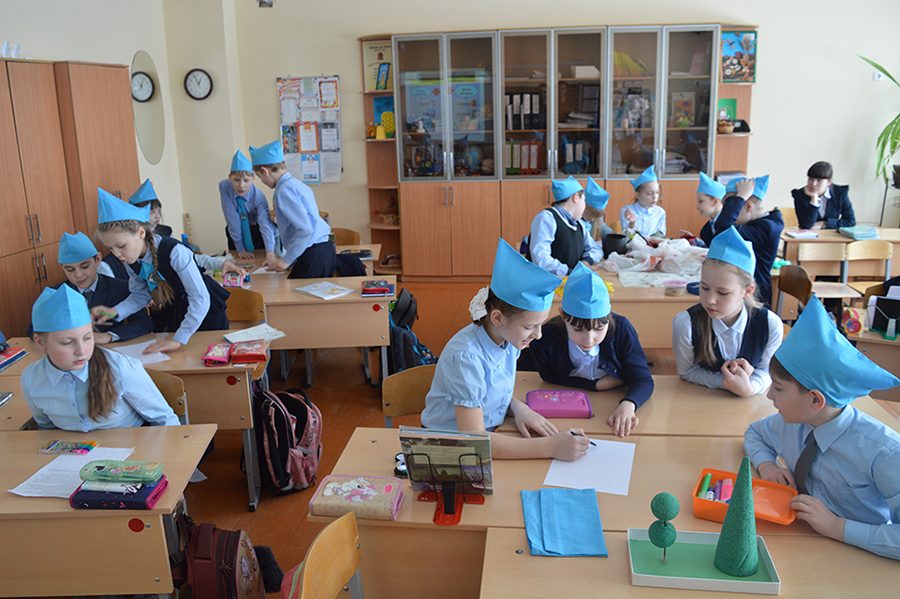 Урок в школе Сколково