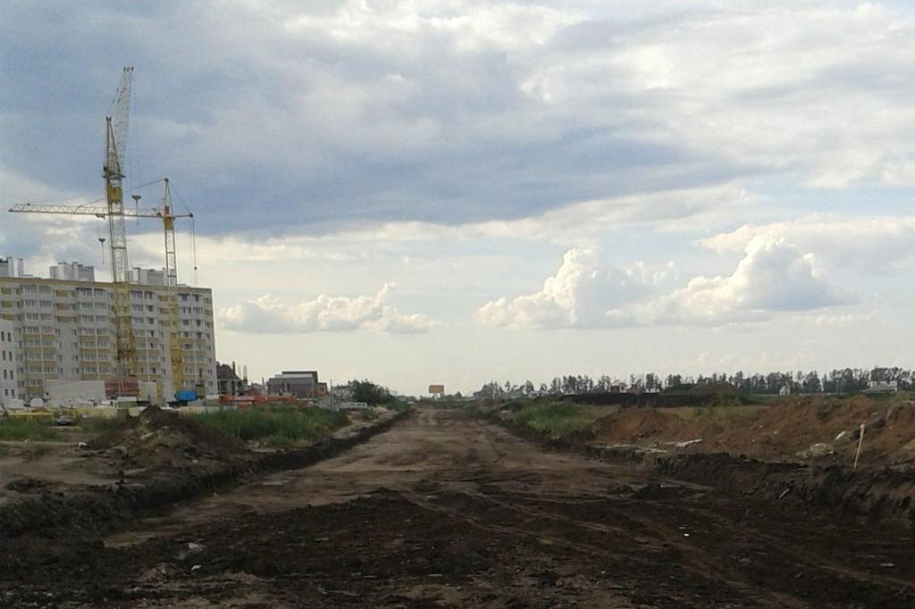 Строительство дороги на улице Рылеева